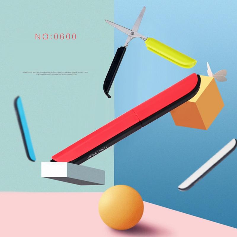 Hidden Creative Pen Design Student Safe Scissors Paper Cutting Art Office School Supply With Cap Kids DIY Stationery Scissors