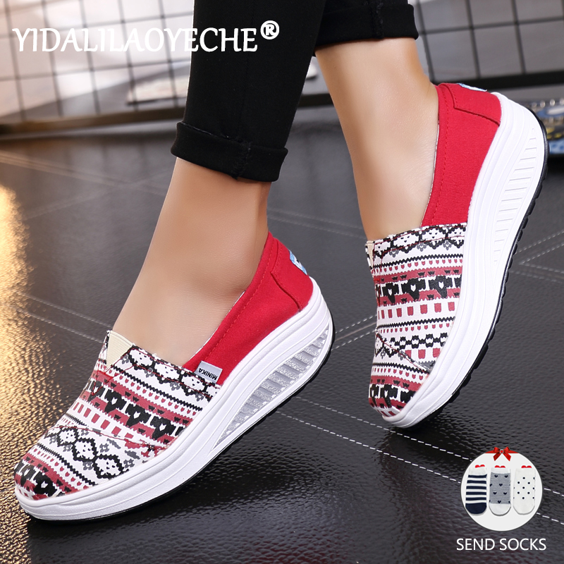 Flat-Shoes Platform Round-Head Spring Mouth-Printed Slip-On Autumn Women's And Shallow