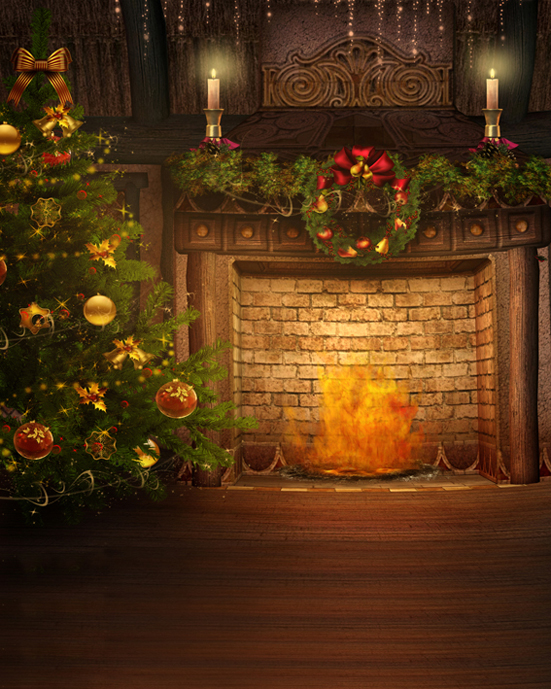 Us 13 59 32 Off Vintage Family Christmas Backdrop Photography Vinyl Photo Background Christmas Tree Fireplace Backdrop For Photo Studio In