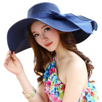 Summer Hats Women S Foldable Wide Large Brim Beach Sun Hat Straw Beach Breathable Cap For