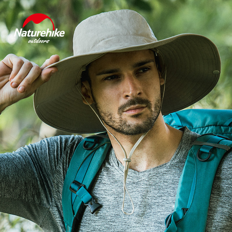 Naturehike Men's Wide Brim Sun Hat Sun Protection Cap for Summer Outdoor Hiking Fishing Hunting Desert Hawaiian