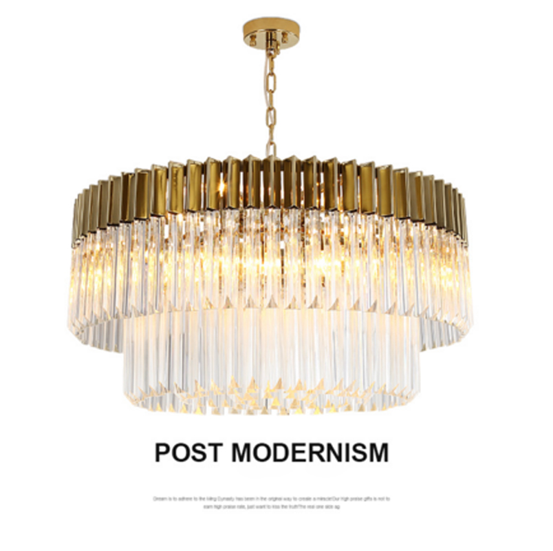 ZYY Gold American Style Retro Chandeliers LED Crystal Lighting For Living Room Bedroom Hall Hotel Restaurant Dining Room Fashion american style crystal pendant light iron retro gold circular lamps for hotel living room restaurant bedroom dhl free