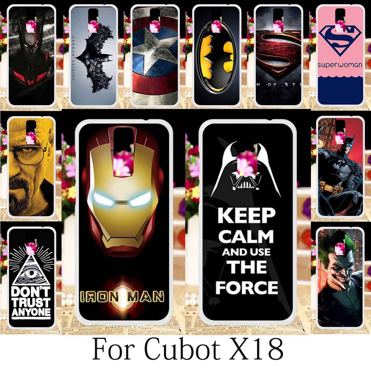Galleria fotografica TAOYUNXI Cases For Cubot X18 Silicone Case Coque Cubot X18 <font><b>Covers</b></font> Anime Case American Captain Spiderman Iron Man Fundas 5.7 inch
