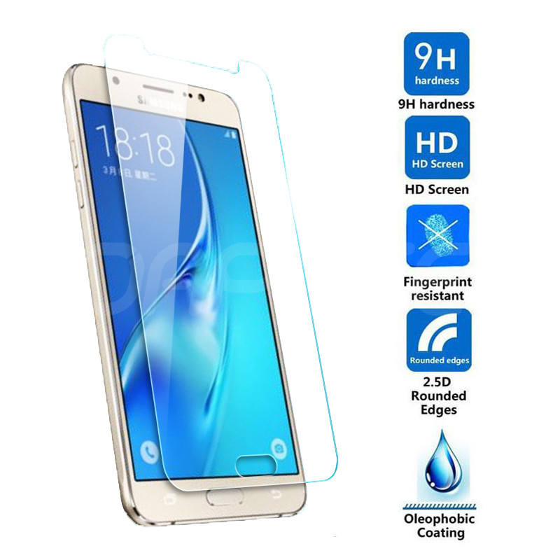 Image 2 - Premium Tempered Glass on the For Samsung Galaxy S7 J3 J5 J7 2015 2016 2017 J3 J7 2018 Screen Protector HD Protective Film Case-in Phone Screen Protectors from Cellphones & Telecommunications