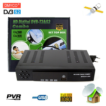 Digital Terrestrial Satellite Receiver DVB T2+S2 Video Broadcasting HD 1080P H.264 MPEG2 MPEG4 TV Tun Receptor Support bisskey