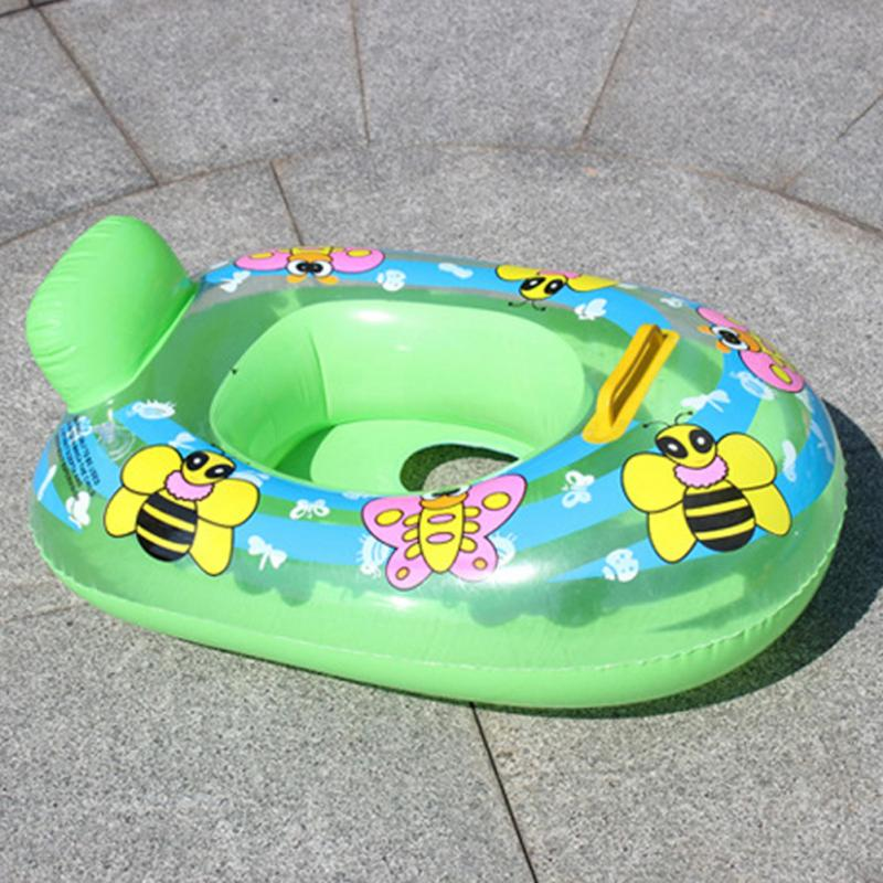 цена Portable Summer Baby Kids Cartoon Safety Swimming Ring Inflatable Swim Float Water Fun Pool Toys Swim Ring Seat Boat Water Sport