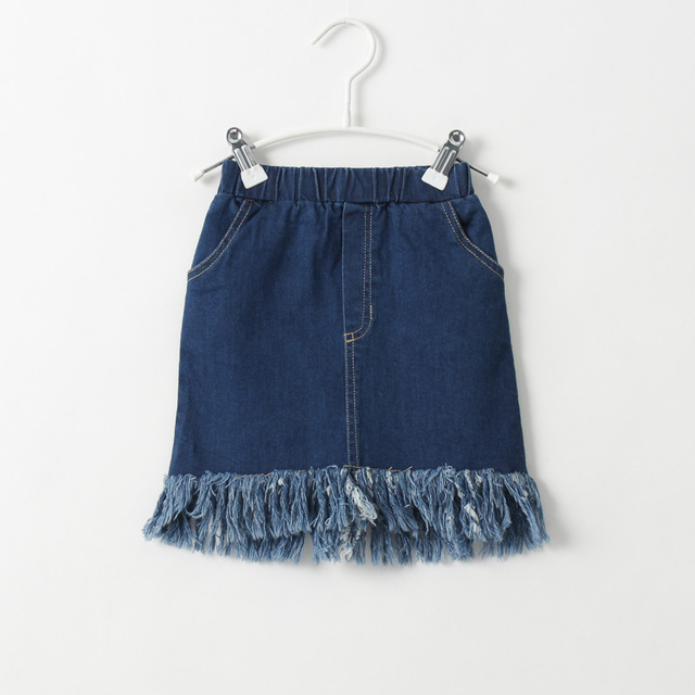 2017 summer new baby girls denim skirt children fashion beautiful temperament skirts kids skirts