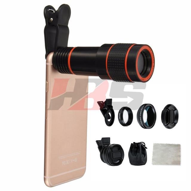 Phone Lenses Hd 0 45x Wide Angle 12 5x Macro Lens 12x Zoom Lens