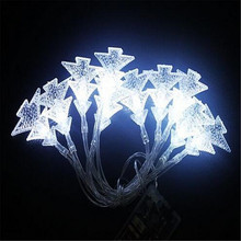 8M 50LEDs 3pcs AA Battery Operated LED Christmas tree Shaped String lights for Wedding party Xmas Festival patio decoration