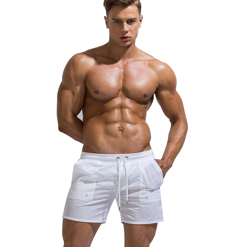 2019 Mens Sexy Translucent Sport Swim Beach Surf   Shorts   Comfortable Quick-dry Breathable   Board     Shorts   swimming   shorts