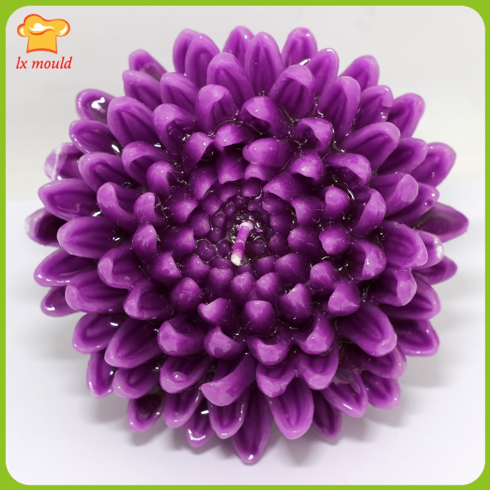 Best Seller Big 3d Chrysanthemum Silicone Molds For Soap And Candle Silikon Stitch Xiaomiredmi3s Craft Clay Mould
