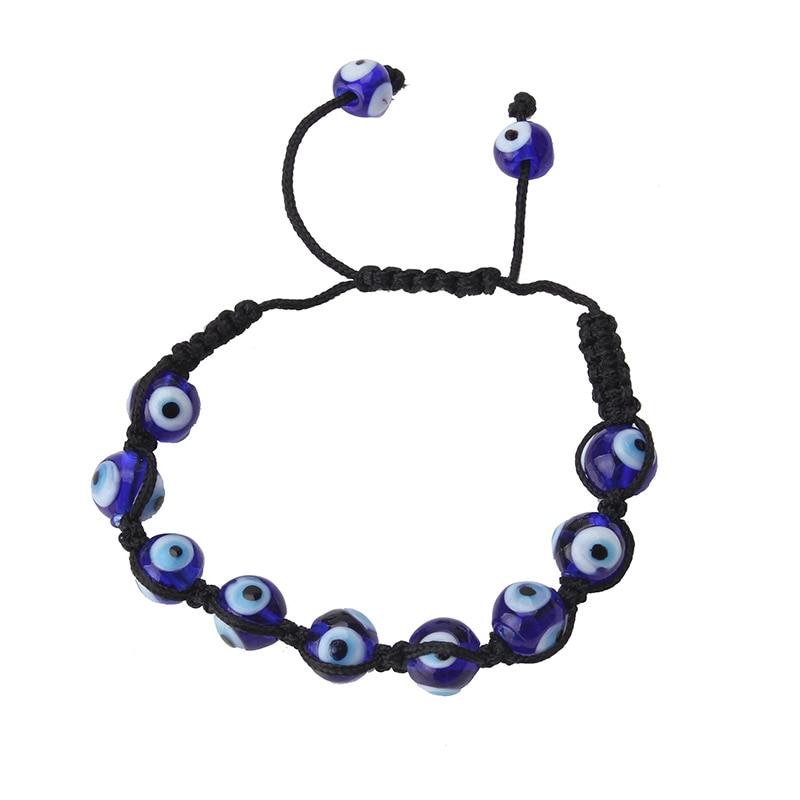 EVIL EYE new fashion evil eye blue string bracelet trendy geometric black bead eye bracelet for woman man bracelet gift