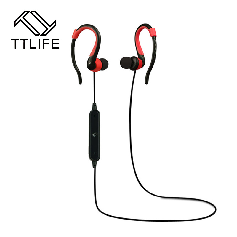 TTLIFE Bluetooth Earphone Sport Stereo Headphones bluetooth 4.1 Wireless Headset  With Mic Noise Cancelling handsfree for xiaomi ttlife q26 stereo noise cancelling earphone ultra mini car calls bluetooth wireless headset with mic for iphone 7 android psp
