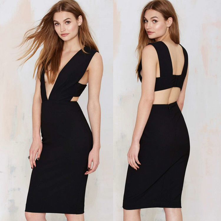 2016 women s clubs hotsale sexy summer super deep v neck backless sleeveless cultivate one s