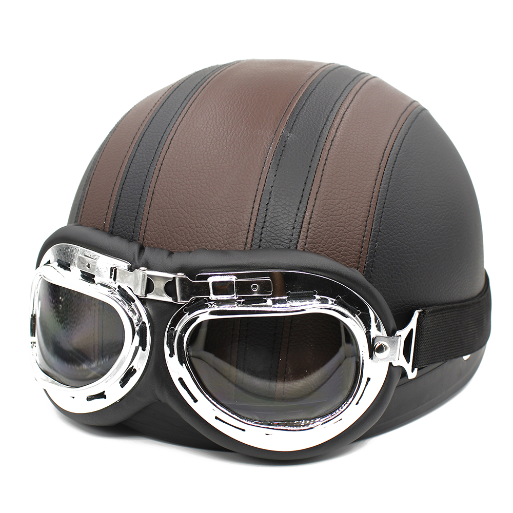 Best hot sell synthetic leather vintage motorcycle cruiser for Best helmet for motor scooter