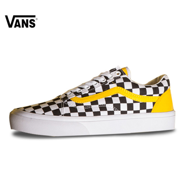 a44ad573ae4 Original Vans Men s   Women s Classic Old Skool Low-top Classic Checkerboard  Lattices Skateboarding Canvas Shoes VN0A856931U