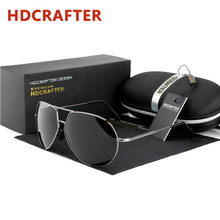2016 Mens Retro Oversized Sunglasses Men Polarized Aviator Sunglass Man Driver UV Protection Mirror Sun Glasses with Case Oculos