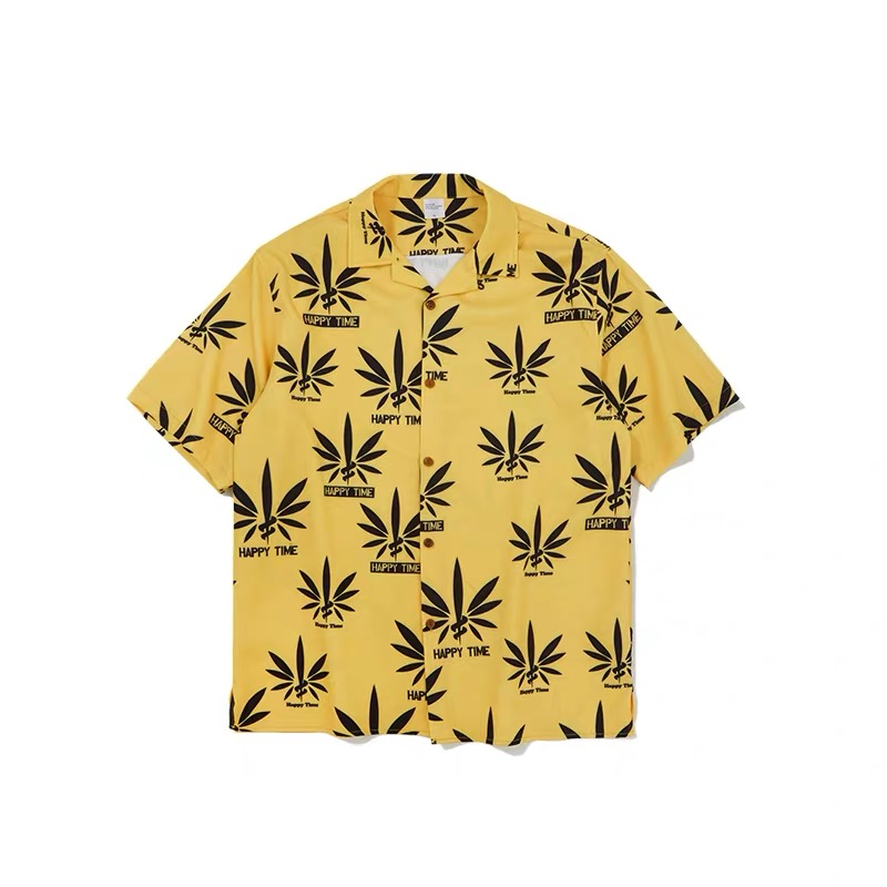 Hfnf Hip Hop Streetwear Men Hawaiian Printed Floral Summer Floral Rapper Beach Leisure Shirts For Men Youth Harajuku Shirts