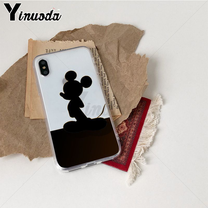 Image 5 - Yinuoda Cute Mickey Mouse TPU Phone Case Cover Shell for iPhone X Xs Xr XsMax 10 7 7plus 8 8plus 6 6s 5 5S SE 5C-in Half-wrapped Cases from Cellphones & Telecommunications