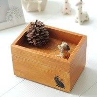 zakka grocery wooden bunk storage box Desktop Storage jewelry box wood crafts new