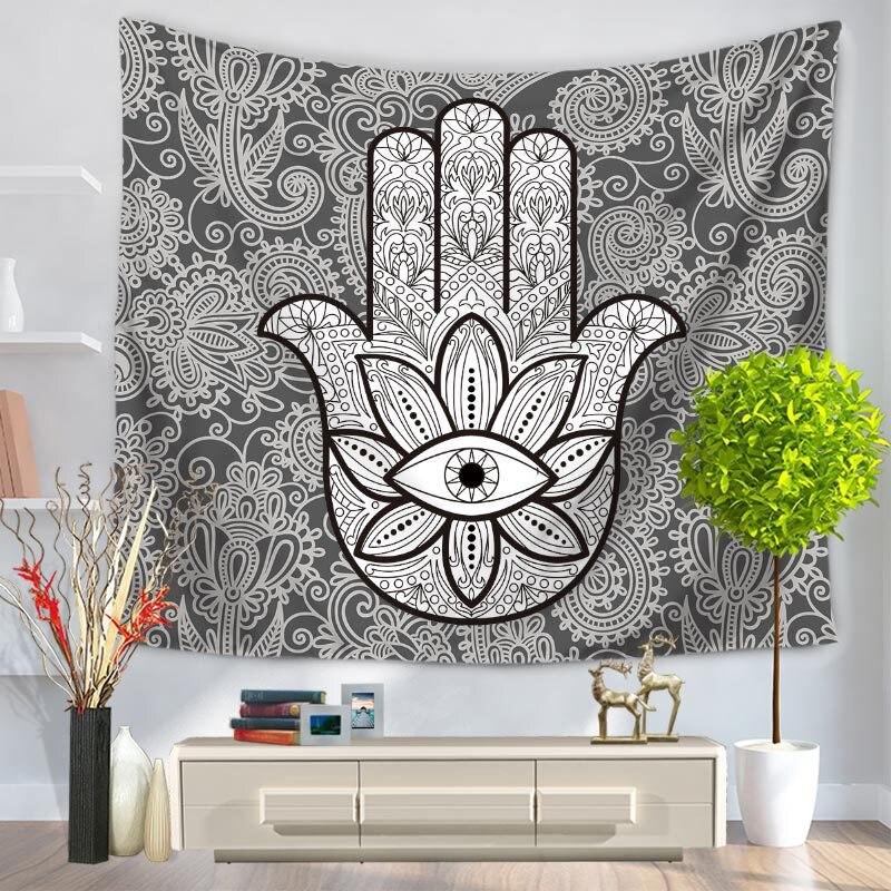 Hamsa Hand Of Fatima Bohemian Tapestry Wall Hanging Good