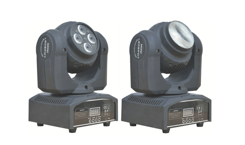 Hot Sale Led Rgbw Beam Double Face 4x10w+1x10w Moving Head 540/360 Degree For Spot Light Dj Disco Ktv Wedding Event