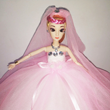 цены на Sweet Baby Bridal Veil Clothes For Barbie Handmade Bride Wedding Dress Princess Evening Party Long Gowns High Quality Gift Toy  в интернет-магазинах
