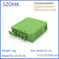 1ชิ้น, 80*85*25มิลลิเมตรszomkพลาสติกรางdinกล่องอิเล็กทรอนิกส์สิ่งที่แนบมากล่องควบคุมดิจิตอลกล่องพล...