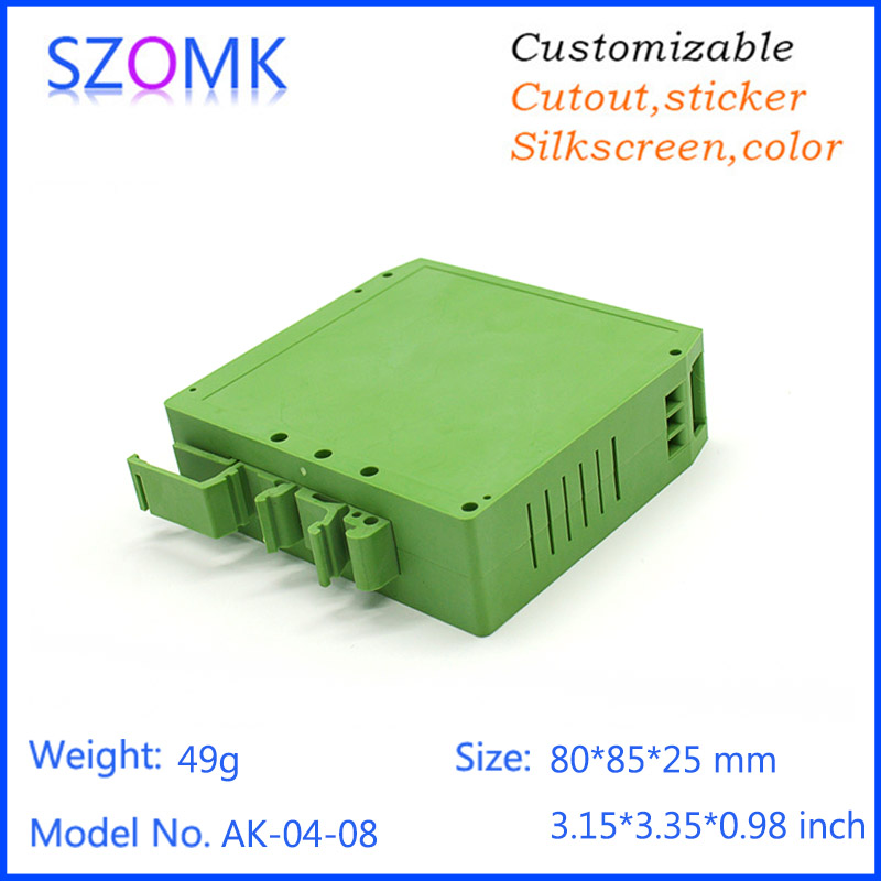 1 piece, 80*85*25mm szomk plastic din rail box enclosure electronics control box digital plastic box for electronic project 4pcs a lot diy plastic enclosure for electronic handheld led junction box abs housing control box waterproof case 238 134 50mm