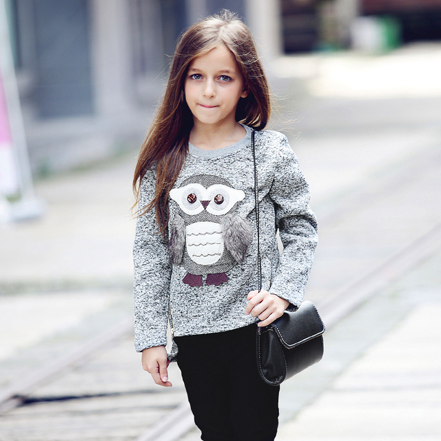 467141235 ABGMEDR Brand Fashion Teens Girls Owl Sweaters Winter Girls Sweaters ...