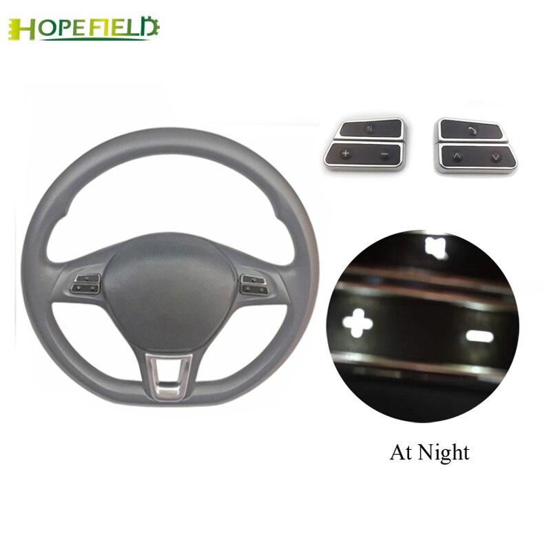 Cache de volant bouton de contrôle télécommande volume interrupteur téléphone bouton pour VW Polo Jetta 5 6 MK6 Golf 7 pour Skoda Yeti Superbe
