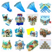 Moana Party caps Straw Supplies Cup Theme Party For Children