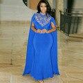 Marroquí Kaftan Abaya islámico Vestido con Capa Con Cuentas de Oro Piedras Mujeres de Noche Árabe Musulmán Dubai Africana vestido de Gala