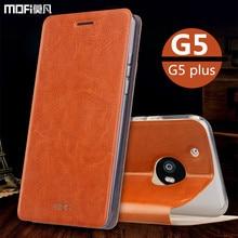 Чехол для MOTO g5 G5 крышка MOFi оригинал для мото плюс случае для Motorola g5 искусственная кожа флип чехол подставка держатель внутренний мягкий тпу