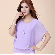 Women Blouse Shirts Chiffon Blouses For Woman Summer Office Lady Plus Size Tops Women Batwing Sleeve Shirts Female Blouses Shirt women blouses women shirt and blouses long sleeve chiffon white blouse female work wear solid office lady shirts tops plus size