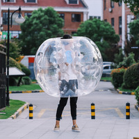 1.2M Inflatable Bubble Bumper Zorb Ball TPU Football for Adults and Child Play Games