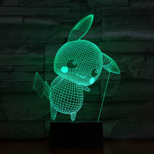 Pokemon Go Pikachu Figure Lamp Nightlight Colorful Indoor Atmosphere Festival Gift Table for Bedroom Decor