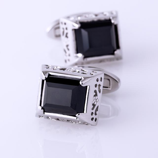 Kflk Jewelry Shirt Vintage Cufflink Mens Cuff Link Button High Black Luxury Wedding Male