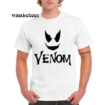 Venom Spiderman Black and White Marvel Badass T-shirt Short Sleeves Summer Oversize Tshirt GMT4527L