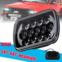6500LM 105W 5X7 Rectangular LED Projector Headlight Kit With DRL For Jeep Truck for Wrangler YJ for Cherokee XJ
