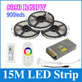15M 5050 RGBW/RGBWW DC12V LED Strips Light 60Led/m No Waterproof SMD Flexible Bar Lighting+Controller+15A Power Supply