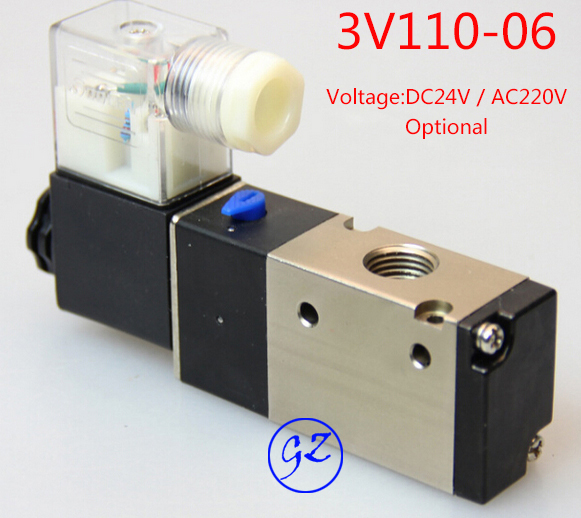 Free shipping Pneumatic valve solenoid valve 3V210-08 Voltage DC12V and AC220v Optional,1/4 free shipping repairing part 3 pin din plug led solenoid valve connector ac 220v
