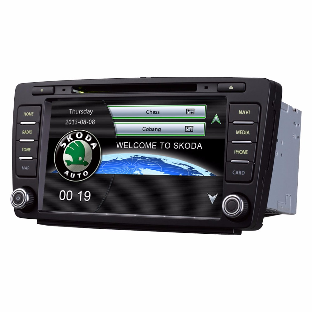 Android 8 pouce Voiture DVD Radio multimédia Stéréo Lecteur GPS Navigation pour Skoda Octavia 2007-2014 Skoda Yeti 2013 -2016 (2006-201