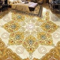 Beibehang piso piso pintado pintado arte telhas parquet piso de luxo Europeu pintura papel de parede 3d para sala atacado