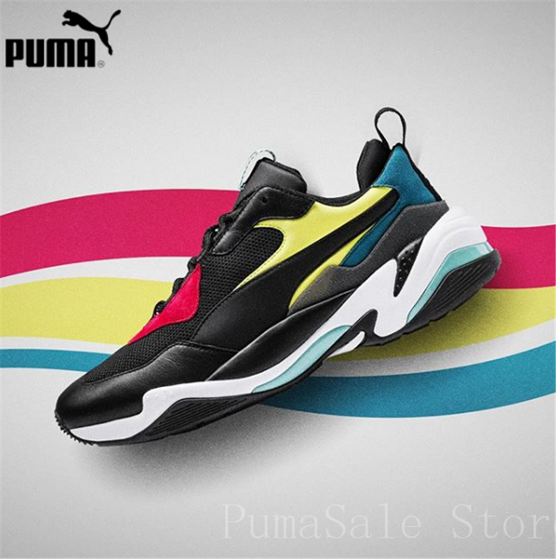 PUMA Mens Thunder Spectra Sneakers Men Women Sports Shoes 367516 01  Badminton Shoes Thunder Desert Retro Dad Shoes 36 45-in Badminton Shoes  from Sports ... 54e75afeb