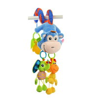 45 * 16CM Sozzy baby cartoon toys monkey bed around and car hanging dolls bell appease toys WJ465