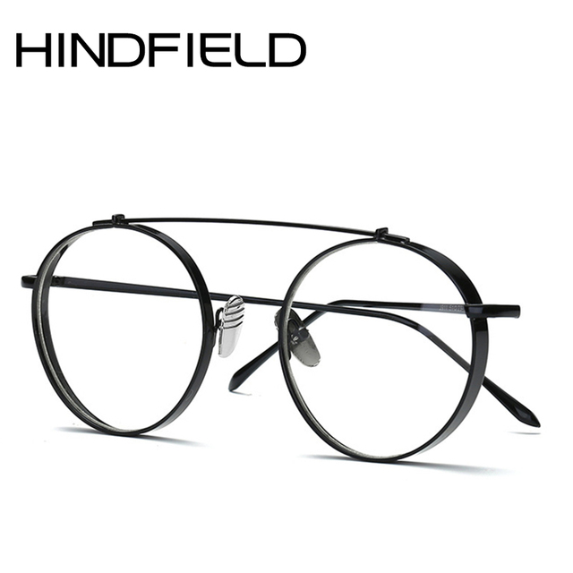 Hindfield Newest Fashion Round Glasses frames for Women Metal Men ...