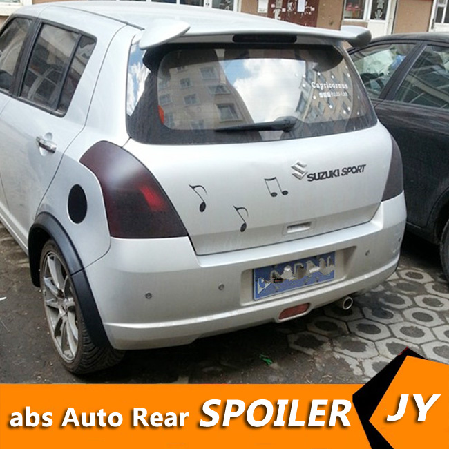 For <font><b>SUZUKI</b></font> <font><b>Swift</b></font> Spoiler <font><b>2008</b></font>-2017 <font><b>Swift</b></font> spoiler YYCK High Quality ABS Material Car Rear Wing Primer Color Rear Spoiler image