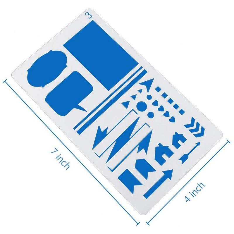 20 Pz Muore Fabbricazione Della Carta Artigianato Taglio Pallottola Stencil Stencil Di Plastica Journal/notebook/diario/album Fai Da Te Disegno Modello Nuovo Servizio Durevole