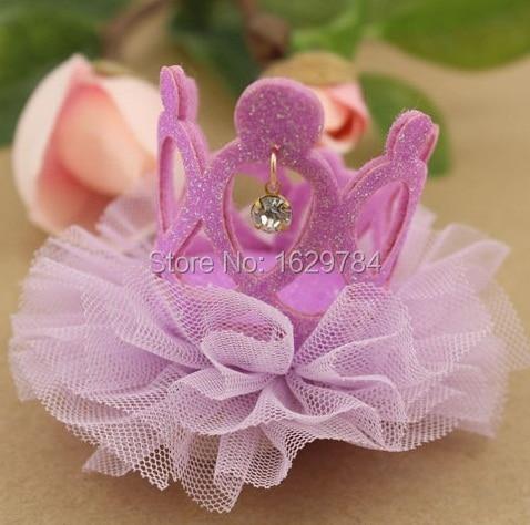 10st Mode Glitter 3D Gemstone Cutout Tiaras Hairbands Solid Söta - Kläder tillbehör - Foto 5